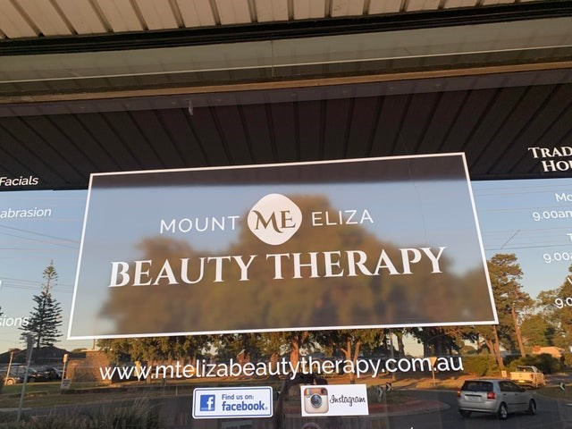 Advertising - TRAD Facials abrasion MOUNT ME ELIZA 9.00an BEAUTY THERAPY 9.002 Eions 9.C www.mtelizabeautytherapy.com.au Find us on facebook. Jnstagram