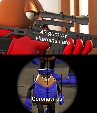 Gun - 43 gummy vitamins I ate wwo 200 Coronavirus