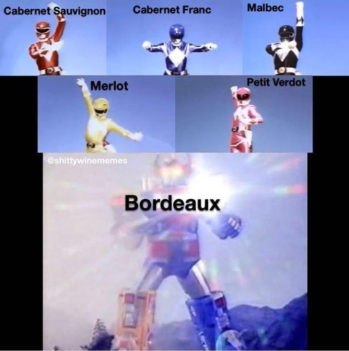 Fictional character - Cabernet Sauvignon Cabernet Franc Malbec Merlot Petit Verdot @shittywinemenmes Bordeaux