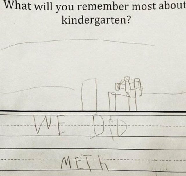 Text - What will you remember most about kindergarten? WE DiD MFTA