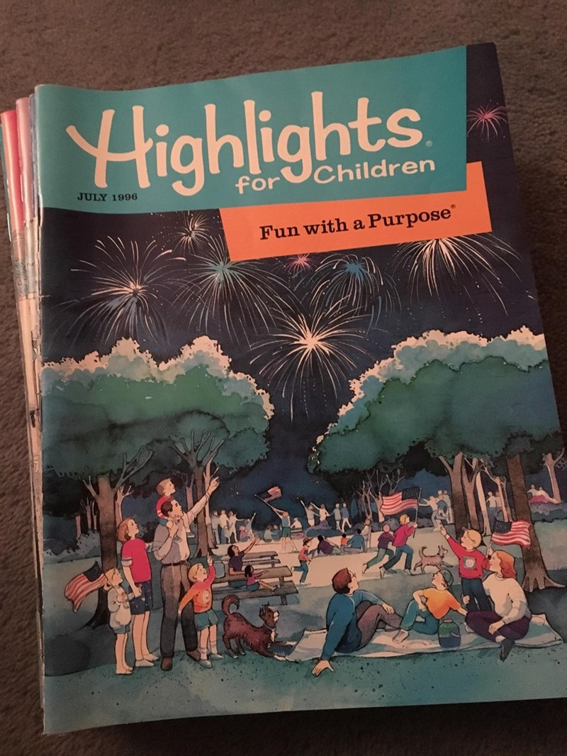 Text - Highlights for Children JULY 1996 Fun with a Purpose