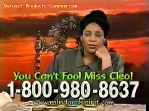 Movie - Defunct Products Commercials You Can't Fool Miss Cleo! 1-800-980-8637 www.mindadspirit.com,