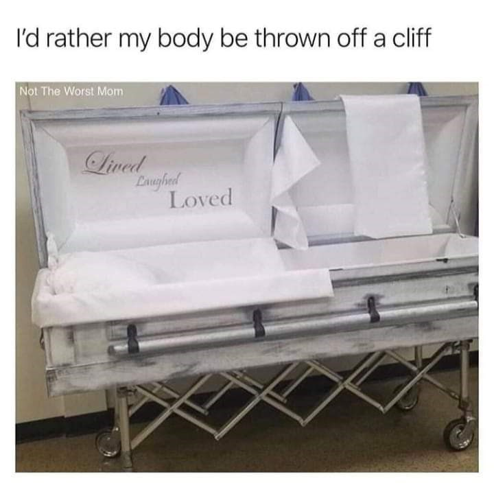 Furniture - I'd rather my body be thrown off a cliff Not The Worst Mom Lived Laughed Loved