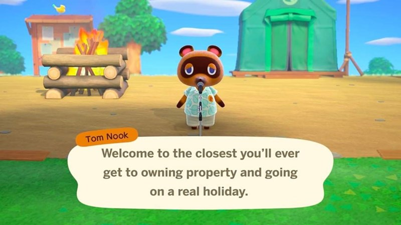 Cartoon - Tom Nook Welcome to the closest you'll ever get to owning property and going on a real holiday.