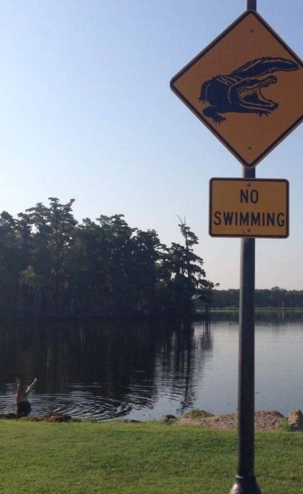 Sign - NO SWIMMING