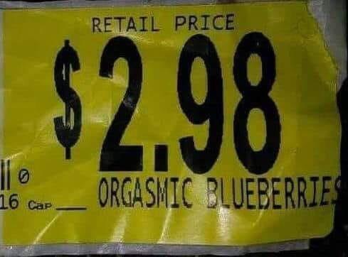 Automotive exterior - RETAIL PRICE $2.98 ORGASMIC BLUEBERRIES 16 Cap