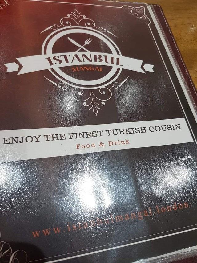 Metal - ISTANBUL MANGAL ENJOY THE FINEST TURKISH COUSIN Food & Drink AL ( WWW.IST WWW.istabn tm ang ad, Iordon