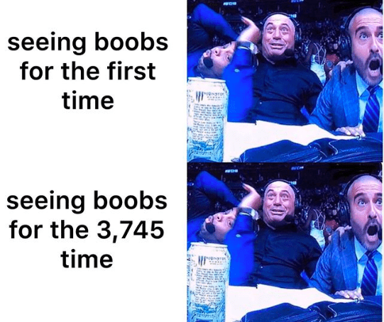 Community - seeing boobs for the first time seeing boobs for the 3,745 time