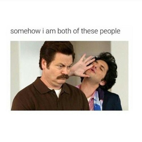 Text - somehow i am both of these people