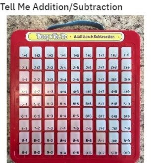 Technology - Tell Me Addition/Subtraction TOUCH NTEE • Addition & Subtraction 142 143 144 118 1+9 2-1 212 243 214 215 216 247 2+8 2+9 3-1 315 316 347 318 3-2 343 3+4 319 4-1 1-3 4+4 4+5 4+6 4+7 4+8 4+9 5-1 6-3 5-4 545 5+6 5+8 549 6-1 6-2 6-3 6-4 6-5 6+7 648 619 7-1 7-2 7-3 7-6 7-4 7-5 747 718 49 8-1 8-2 8-3 8-4 8-5 8-6 8-7 Внв 819 9-1 9-2 9-3 9-5 9-6 9-7 9-8 9+9