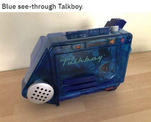 Electronics - Blue see-through Talkboy.