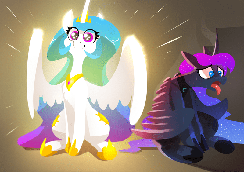 underpable princess luna princess celestia - 9455265536