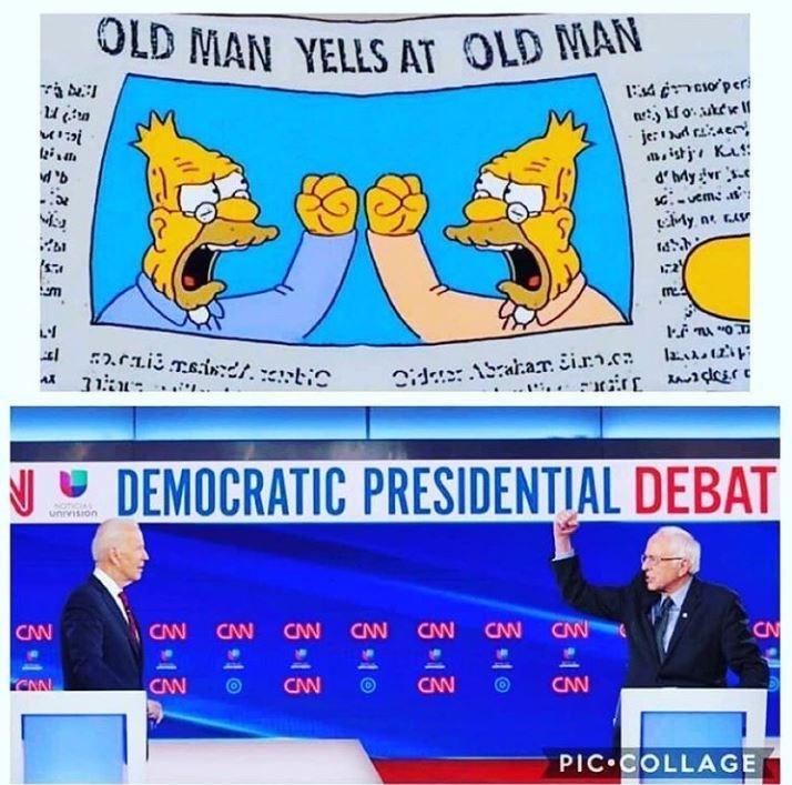 Simpsons depict the presidential debate