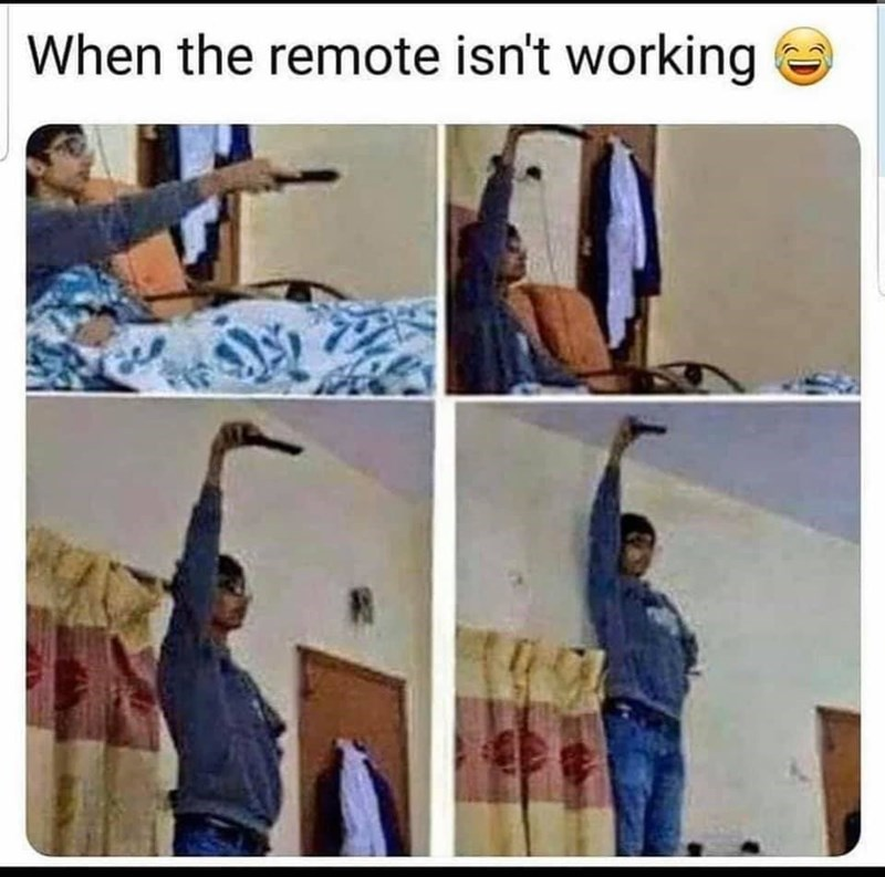Art - When the remote isn't working