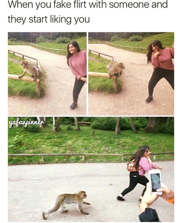 Human - When you fake flirt with someone and they start liking you yafauginda