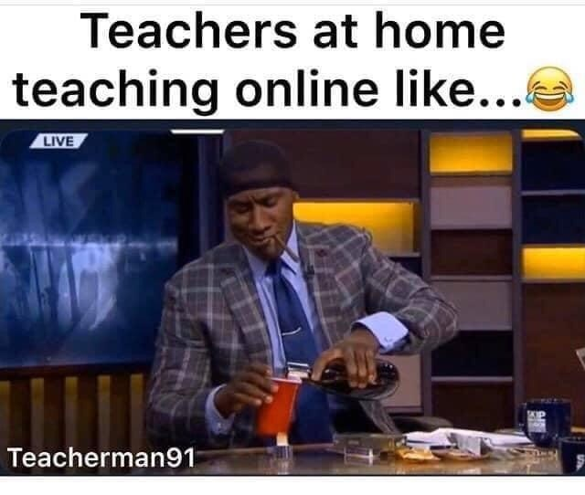 Design - Teachers at home teaching online like... LIVE Teacherman91