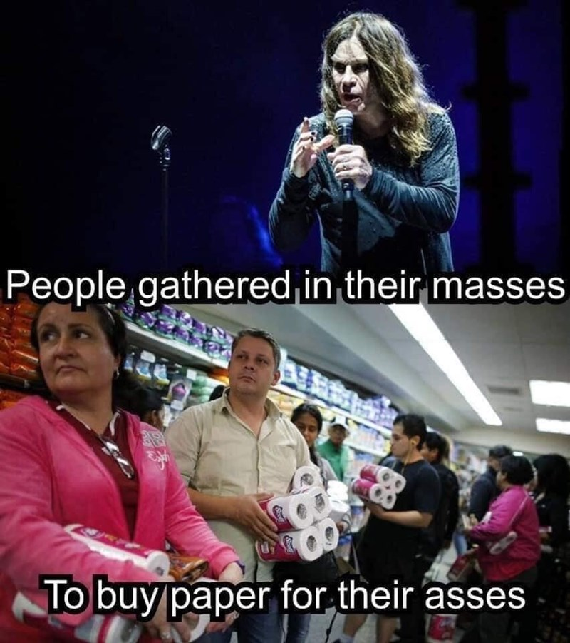 Music artist - People gathered in their masses To buy paper for their asses