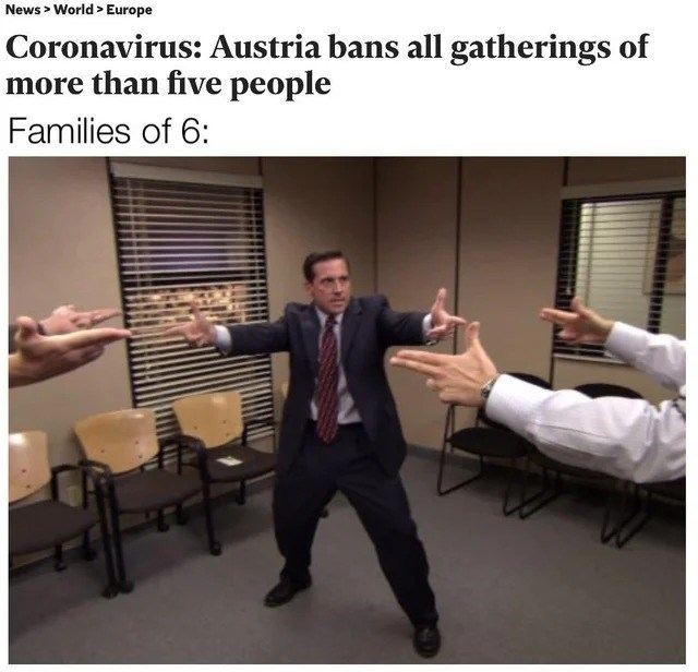 Photo caption - News > World > Europe Coronavirus: Austria bans all gatherings of more than five people Families of 6: