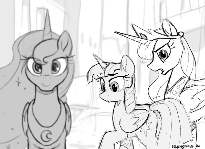 selenophile distracted boyfriend twilight sparkle Memes princess luna princess celestia - 9458282240