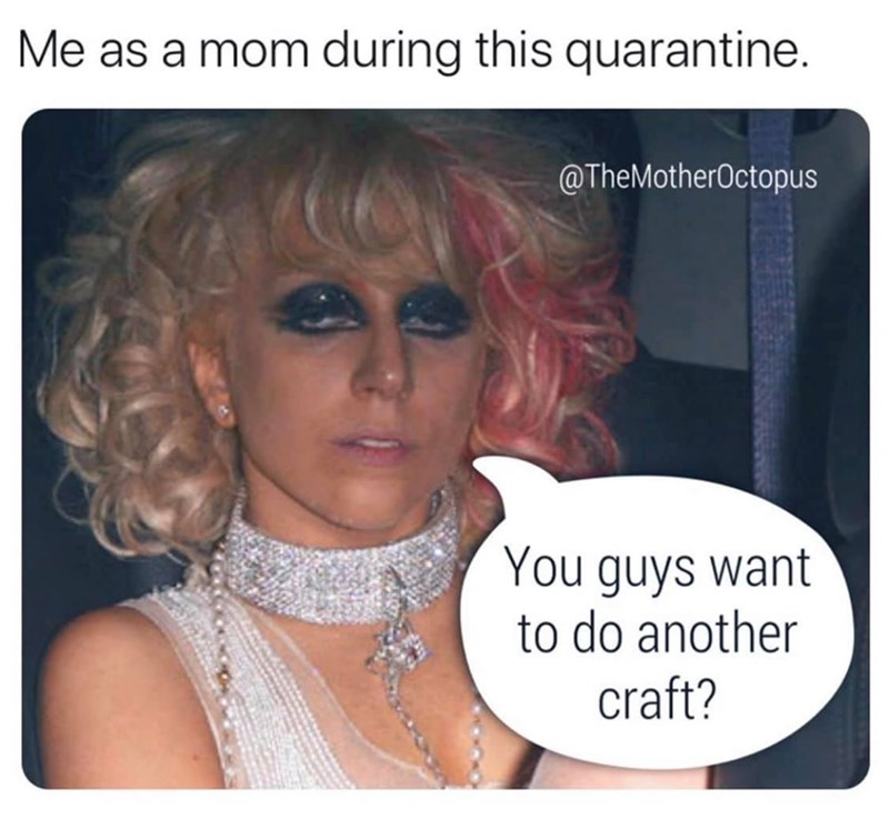 Hair - Me as a mom during this quarantine. @TheMotherOctopus You guys want to do another craft?