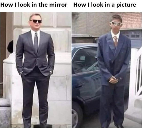 Suit - How I look in the mirror How I look in a picture