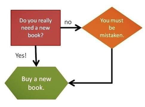 Line - Do you really You must no need a new be book? mistaken. Yes! Buy a new book.