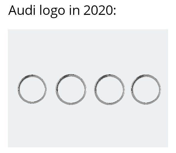 Text - Audi logo in 2020: