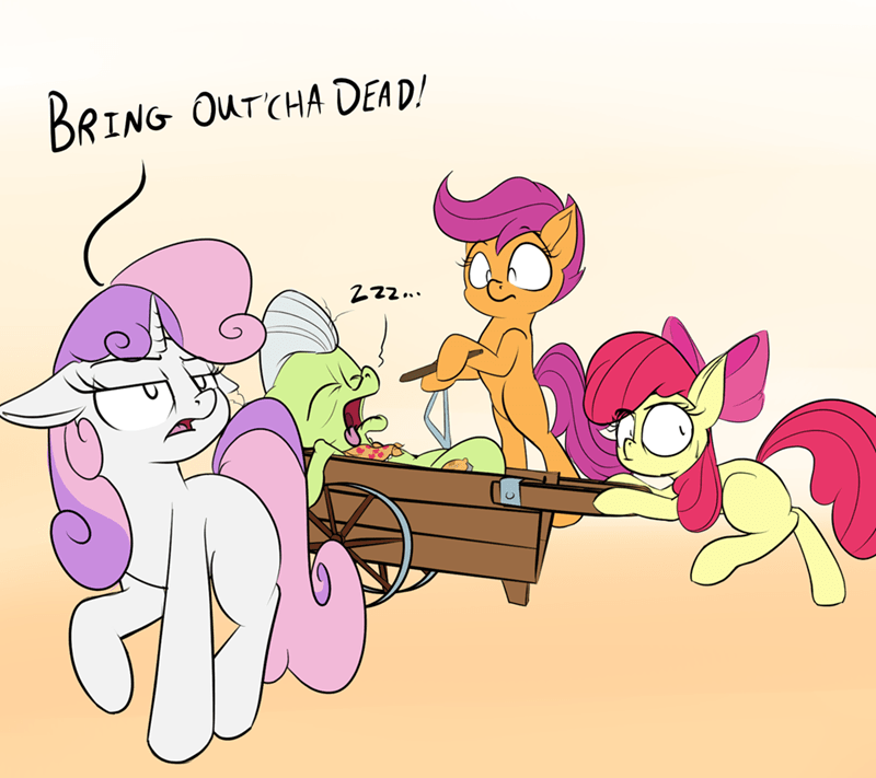 monty python Sweetie Belle apple bloom rocket-lawnchair granny smith Scootaloo - 9459454976