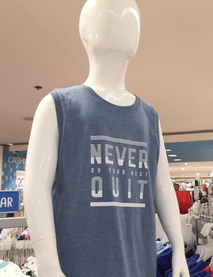 Mannequin - NEVER QUIT CASHI DO YOUR BEST SAVE 20 AR