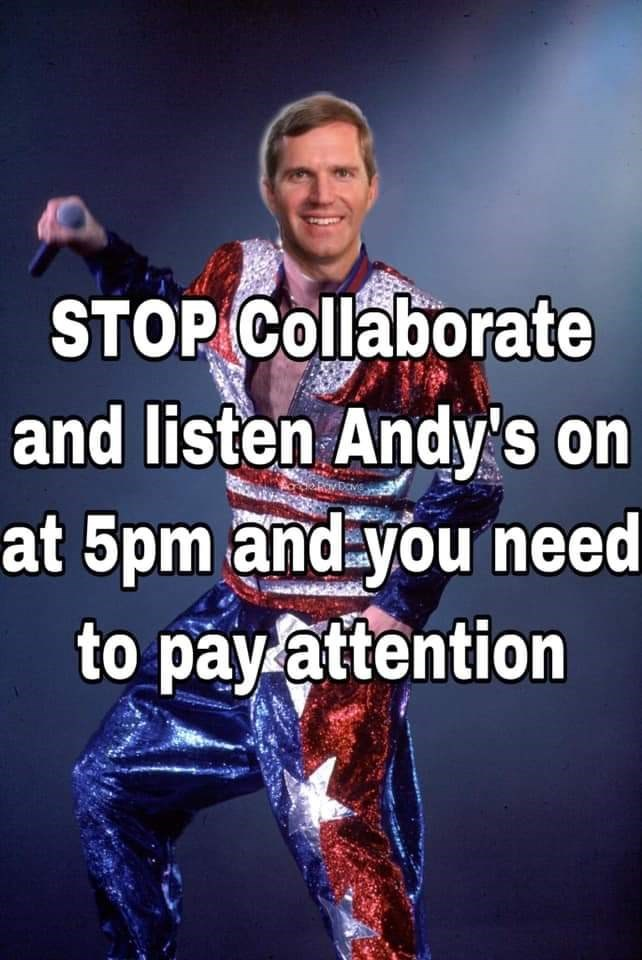 Cool - STOP Collaborate and listen Andy's on at 5pm and you need to payattention