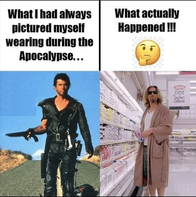 Human - What I had always pictured myself wearing during the Apocalypse... What actually Наррened!! fist
