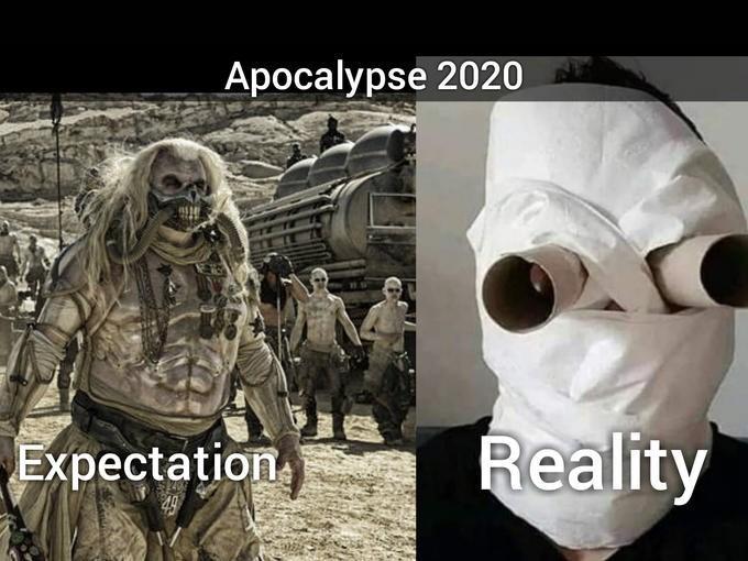 Photo caption - Apocalypse 2020 Expectation Reality