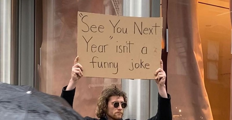 Protest - See You Next Year isnt a funny joke