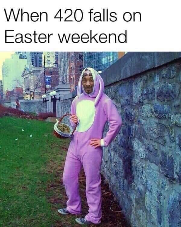 Tree - When 420 falls on Easter weekend