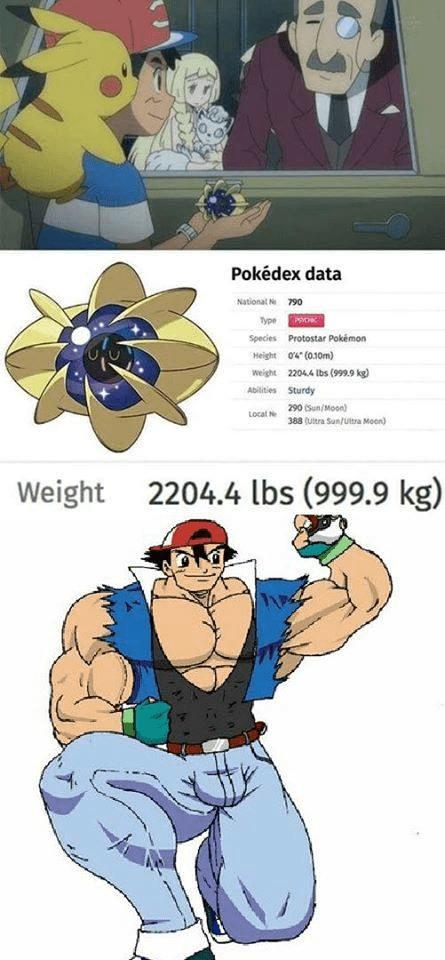 Cartoon - Pokédex data National 790 Type Species Protostar Pokémon Height o4 (0.10m) weight 2204.4 lbs (99.9 kg) Abilities Sturdy 290 (Sun/Moon) Locat Ne 388 (Uitra Sun/ultra Moon) Weight 2204.4 lbs (999.9 kg)