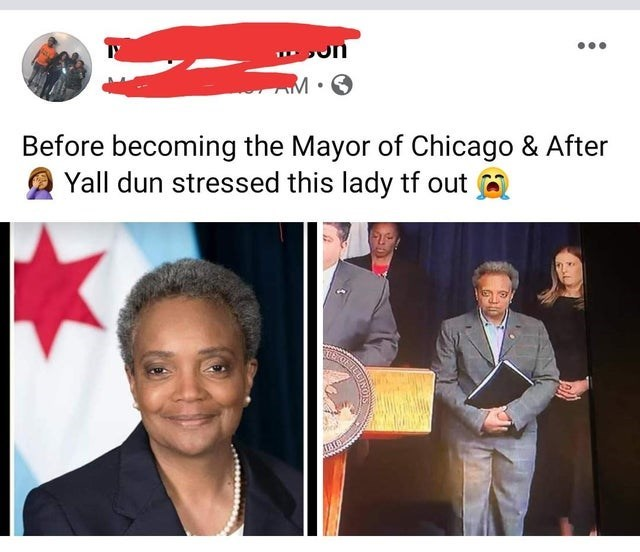 Photography - Before becoming the Mayor of Chicago & After Yall dun stressed this lady tf out