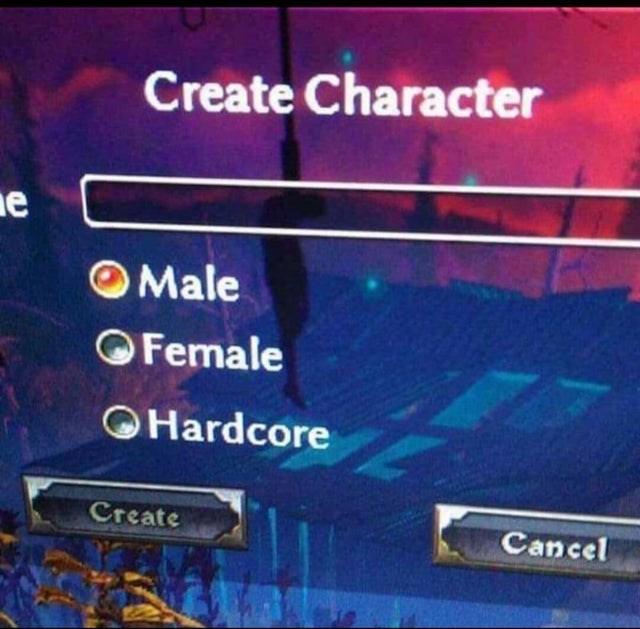 Sky - Create Character ne OMale OFemale OHardcore Create Cancel