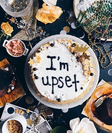 Food - I'm upset.