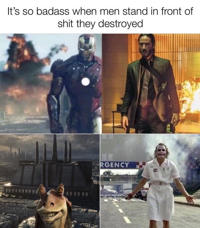 Superhero - It's so badass when men stand in front of shit they destroyed RGENCY
