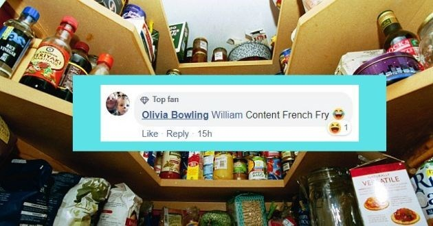 Product - RKE VINIGAR Top fan Olivia Bowling William Content French Fry Like Reply 15h tuKALLY VE ATILE ufn.