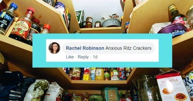 Product - RKE VINIGAR Rachel Robinson Anxious Ritz Crackers Like Reply 1d tuKALLY VE ATILE ufn.