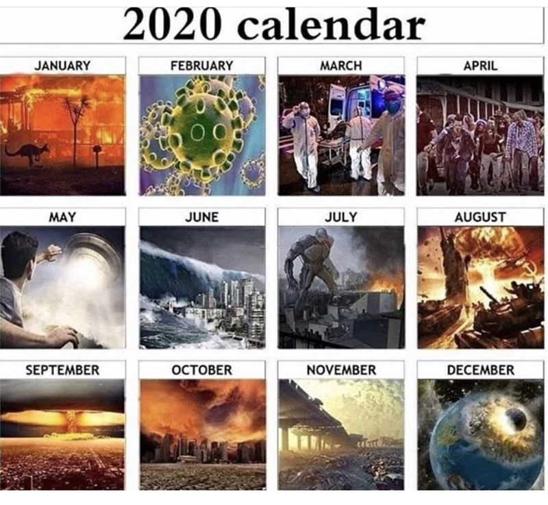 Adaptation - 2020 calendar JANUARY FEBRUARY MARCH APRIL MAY JUNE JULY AUGUST SEPTEMBER OCTOBER NOVEMBER DECEMBER