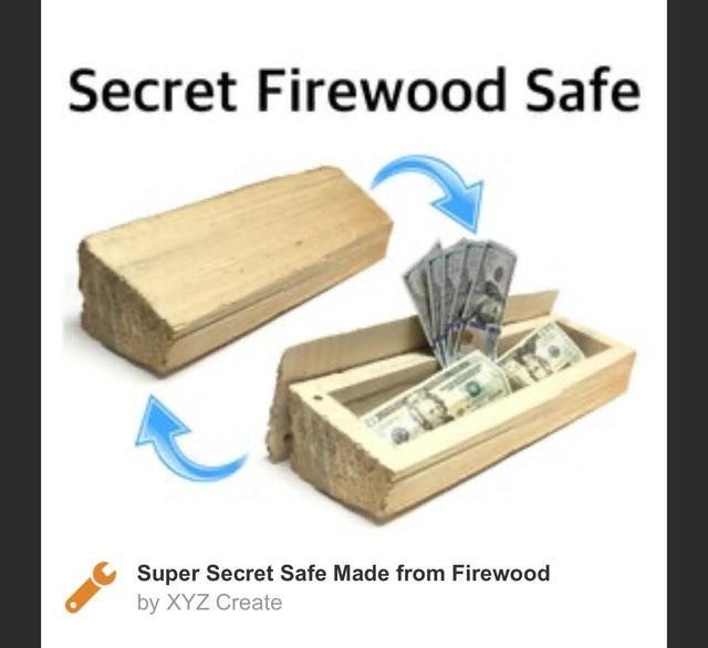 Product - Secret Firewood Safe Super Secret Safe Made from Firewood by XYZ Create