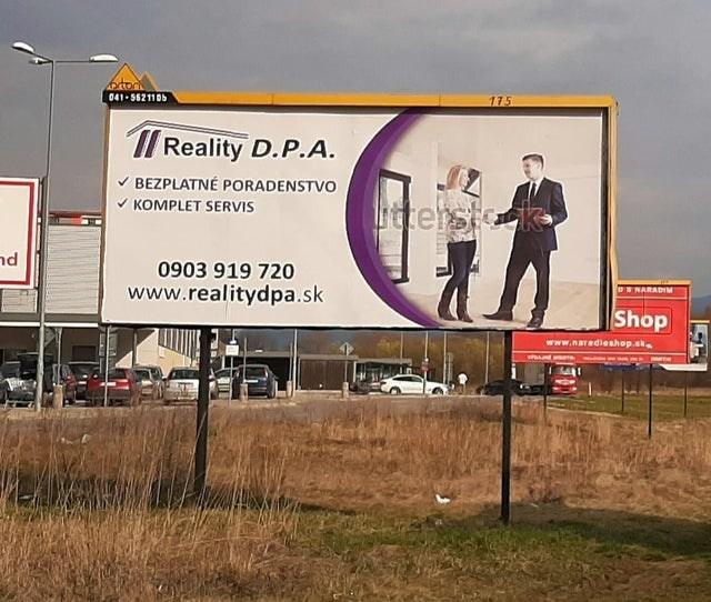 Billboard - prtons 041- 5621105 175 Reality D.P.A. V BEZPLATNÉ PORADENSTVO V KOMPLET SERVIS terstck nd 0903 919 720 www.realitydpa.sk ORNARADIM Shop www.naradieshop.sk PRAJNE