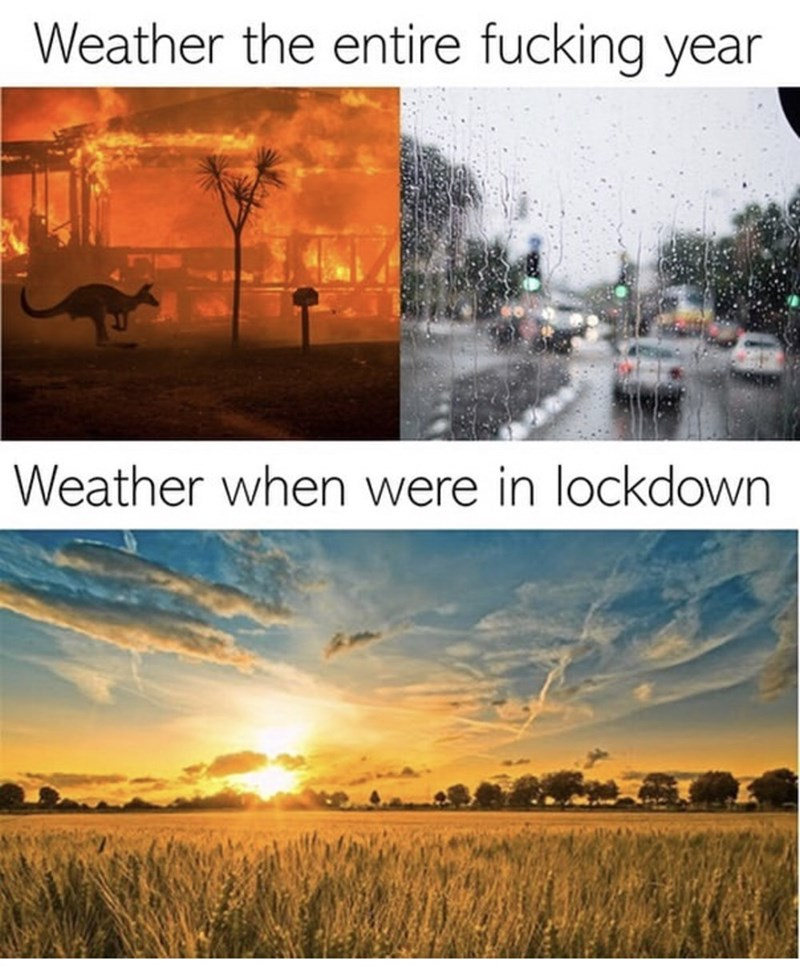 Natural landscape - Weather the entire fucking year Weather when were in lockdown