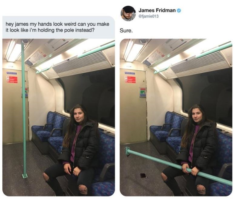 Transport - James Fridman efjamie013 hey james my hands look weird can you make it look like i'm holding the pole instead? Sure. IND