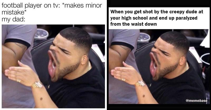 Funny dank memes entitled, 'Drake Yelling'
