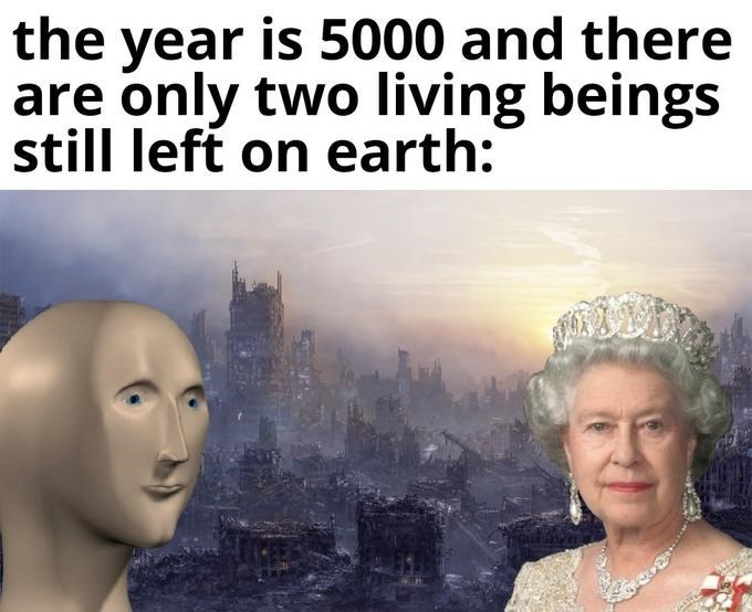 Face - the is 5000 and there year are only two living beings still left on earth: