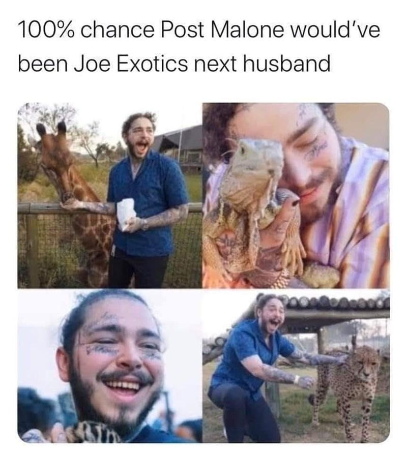 People - 100% chance Post Malone would've been Joe Exotics next husband