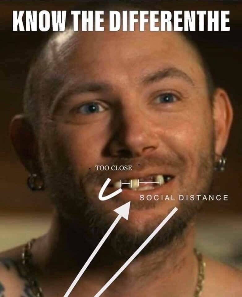 Face - KNOW THE DIFFERENTHE TOO CLOSE SOCIAL DISTANCE